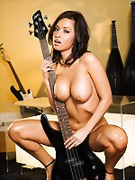 Lana Lopez rocks out at a local music shop-2