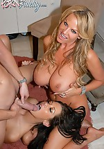 Kelly Madison and her husband drop by...